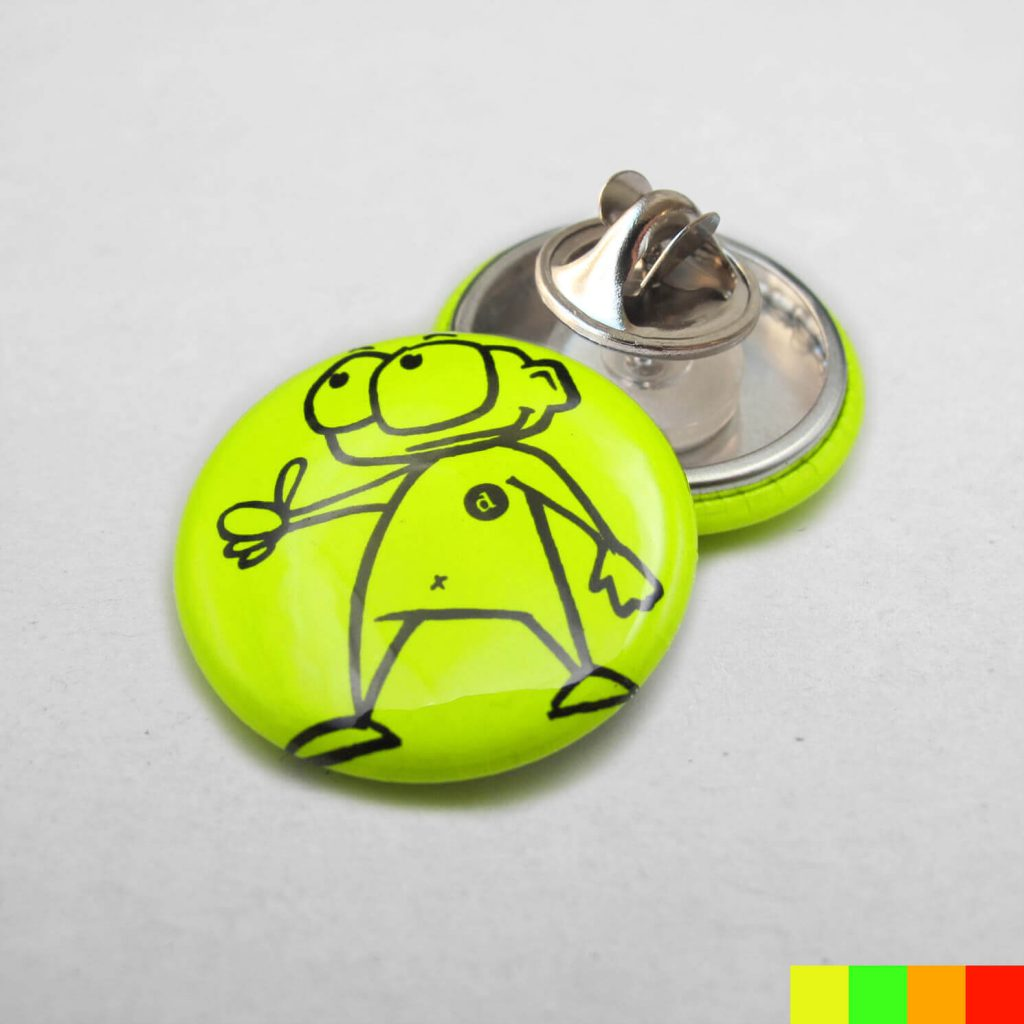25mm Buttons mit Butterfly / NEON