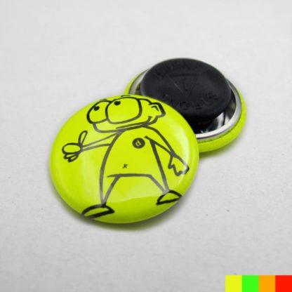 25mm Buttons Kleidungsmagnet NEON