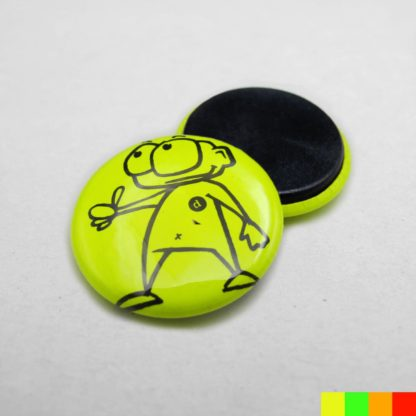 25mm Buttons Magnet NEON