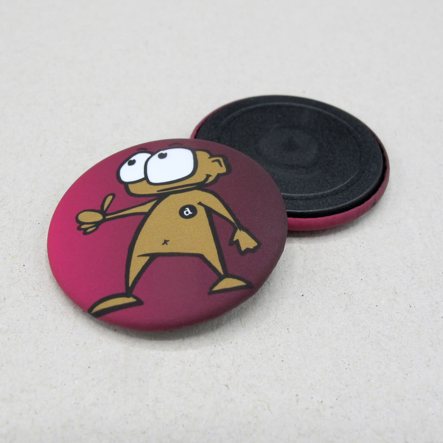 37mm Buttons Magnet MATT