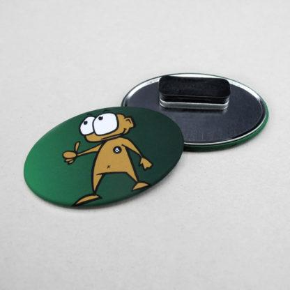 44x68mm Buttons Oval Clothing Magnet MATT