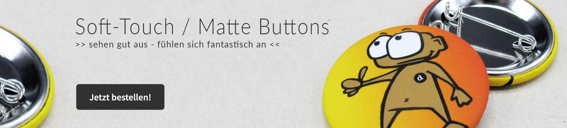 Matte Soft-Touch Buttons