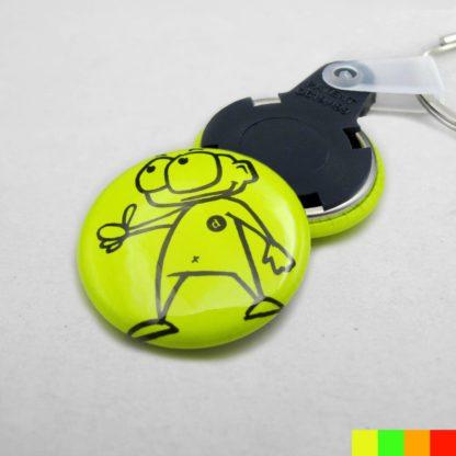 25mm Buttons Schlüsselring NEON-1