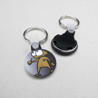 25mm Buttons Schlüsselring MATT