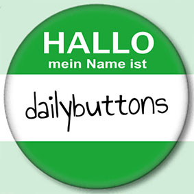 Buttons als Namensschilder