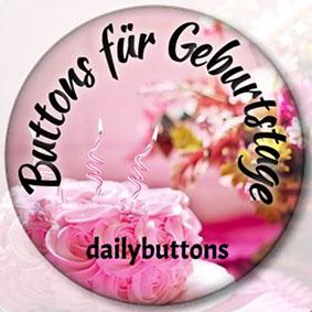 Buttons für Geburtstage