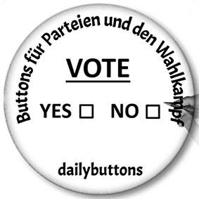 Buttons für Parteien und den Wahlkampf