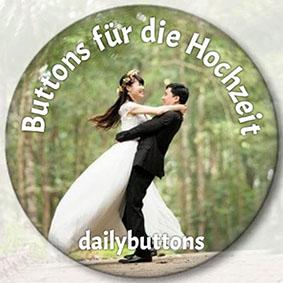 Buttons für die Hochzeit