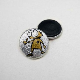 25mm Buttons Glitzer Magnet