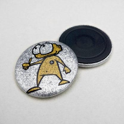 37mm Buttons Glitzer Magnet