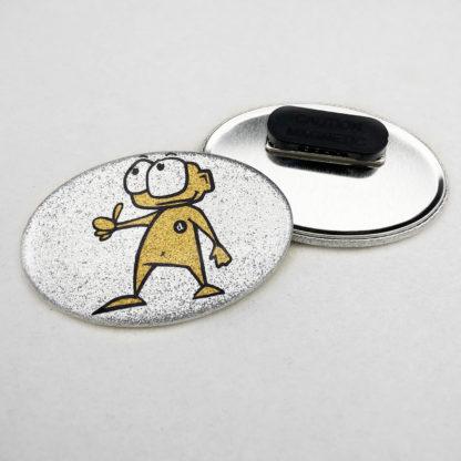 44x68mm Buttons Oval Glitzer Kleidungsmagnet