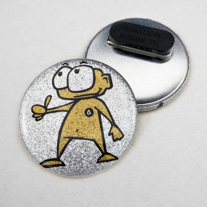 56mm Buttons Glitzer Kleidungsmagnet