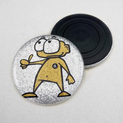 56mm Buttons Glitzer Magnet
