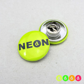 25mm Buttons NEON Butterfly