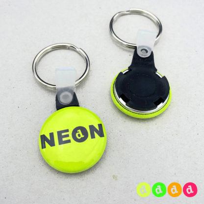 25mm Buttons NEON Schlüsselring