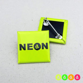 25x25mm Buttons NEON Nadel