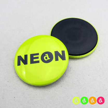 37mm Buttons NEON Magnet