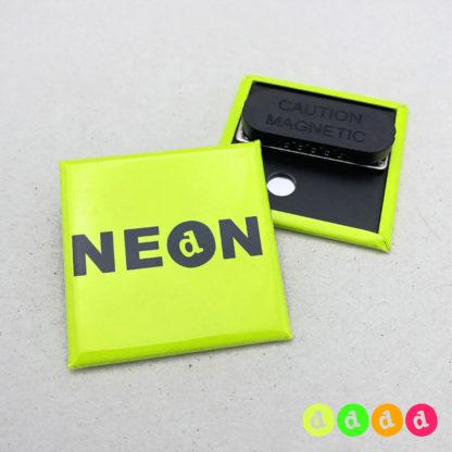 40x40mm Buttons NEON Kleidungsmagnet