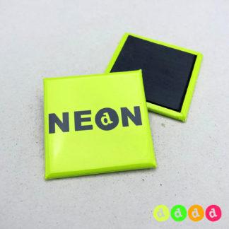 40x40mm Buttons NEON Magnet