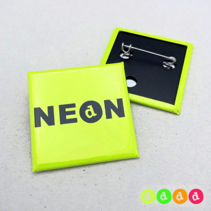 40x40mm Buttons NEON Nadel