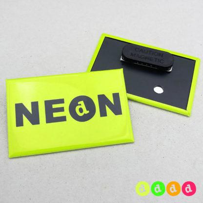 44x68mm Buttons NEON Kleidungsmagnet