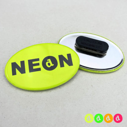 44x68mm Buttons Oval NEON Kleidungsmagnet