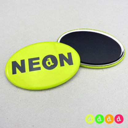 44x68mm Buttons Oval NEON Magnet