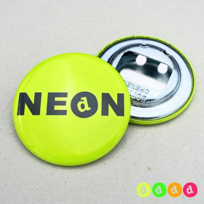 56mm Buttons NEON Flaschenöffner