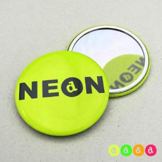 56mm Buttons NEON Spiegel