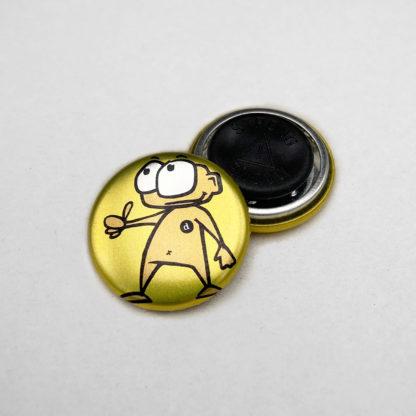 25mm Buttons Kleidungsmagnet METALLIC