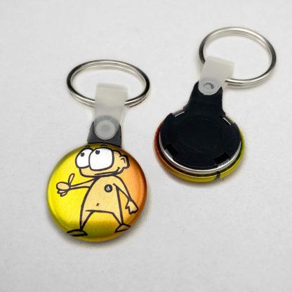 25mm Buttons Schlüsselring METALLIC