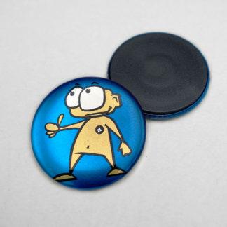 37mm Buttons Magnet METALLIC