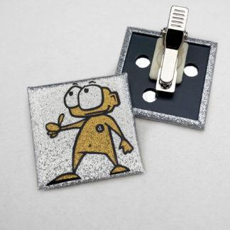 40x40mm Buttons Clip GLITZER