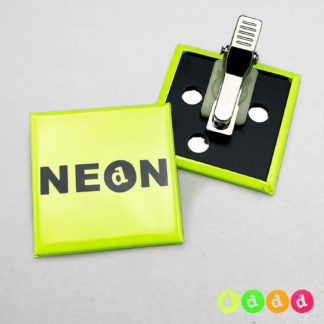 40x40mm Buttons Clip NEON