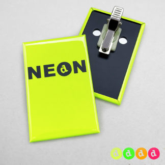 44x68mm Buttons Clip Hochkant NEON