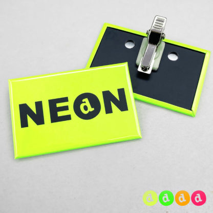 44x68mm Buttons Clip NEON