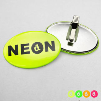 44x68mm Buttons Oval Clip NEON