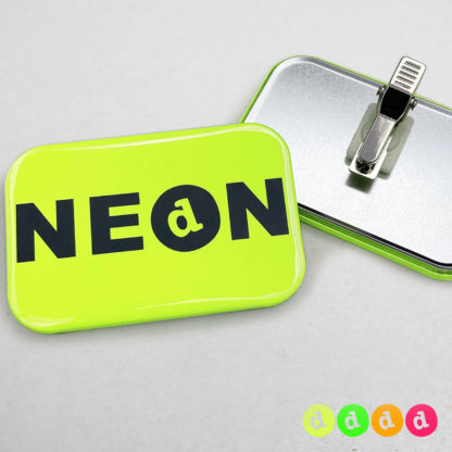 50x76mm Buttons Clip NEON