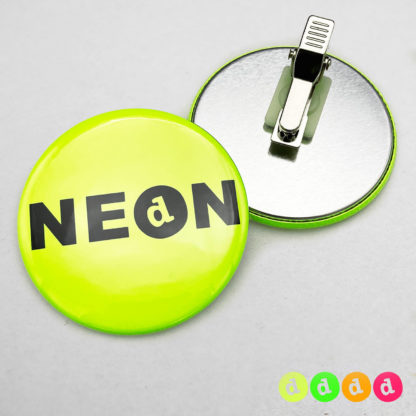 56mm Buttons Clip NEON