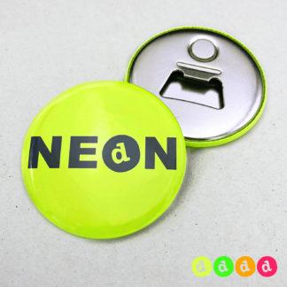 56mm Buttons Flaschenöffner Magnet NEON