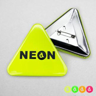 63x70mm Buttons mit Nadel (Dreieck) Neon