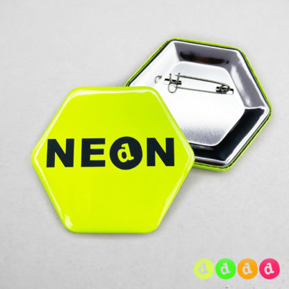 65x58mm Buttons Nadel (Sechseck) Neon