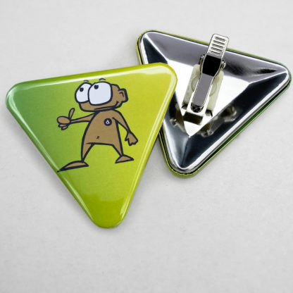 70x63mm Buttons Dreieckig Clip
