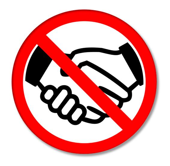 No Handshake Button