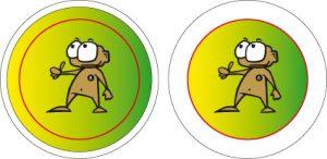 25mm Buttons Beschnitt Grafik