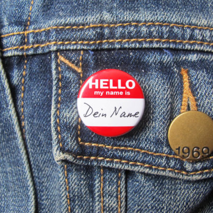 25mm Button Nametag