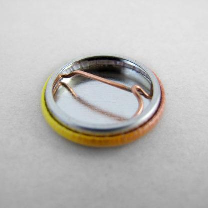 25mm Button mit Nadel Rückseite
