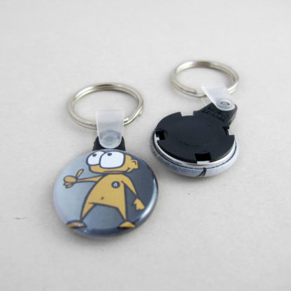 25mm Button Keyring