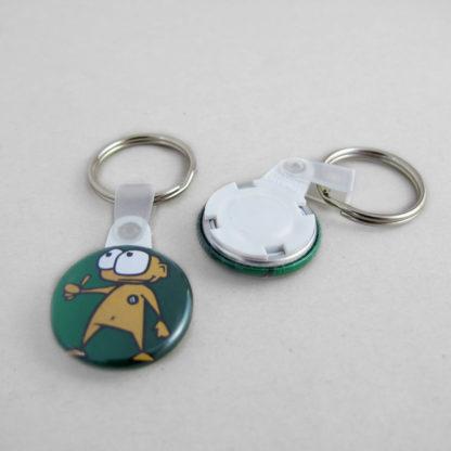 25mm Buttons mit Schlüsselring