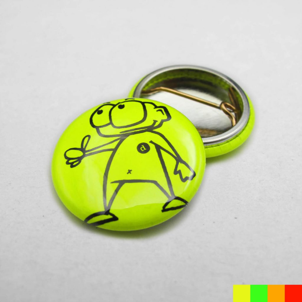 25mm Buttons / Nadel / NEON
